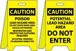 Caution Poison Lead Hazard Area/Potential Lead Hazard Area  - Reversible Two Sided Flood Stands