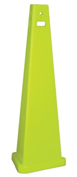 TriVu 3-Sided Blank Floor Cone - Safety Sign Cone