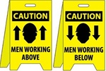 Caution Men Working Above/Men Working Below - Reversible Two Sided Flood Stands