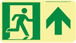Forward Directional Glow Sign - 4-1/2 X 8 - Flexible pressure sensitive polyester or Rigid plastic