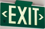 7040 Green Exit PF50 Series Glo Brite® Eco EXIT Sign - 7040B Single Sided or 7042B Double Sided