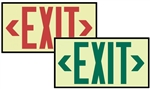 Framed 7210 Series, Glo Brite® Eco Exit™ Sign - Red Lettering 7210 or Green lettering 7220 Visible at 50 feet.