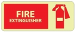 FIRE EXTINGUISHER - Glow in the Dark Signs - 7 X 17 - Pressure Sensitive Vinyl or Rigid Plastic