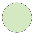 Glow in the Dark 2 in. diameter Dot - Pressure Sensitive Vinyl