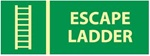 Glow in the Dark Escape Ladder Sign - 5 X 14 - Pressure Sensitive Vinyl or Rigid Plastic
