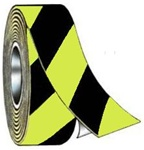 "Striped Glow in the Dark Tape 1"" and 2"" X 100' Rolls"