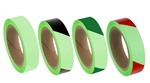 "Glow in the Dark Striped Marking Tape - 2"" X 30' Available in Solid, Green, Red or Black Striped"