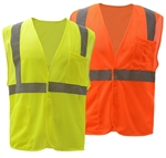 Class 2 Mesh Hook & Loop High Visibility Vest - ANSI 107-2010, CLASS 2