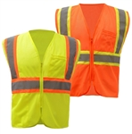 Economy Two Tone High Visibility Safety Vest - ANSI 107-2010, CLASS 2