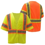 Two Tone Class 3 Construction Safety Vest - ANSI 107-2010