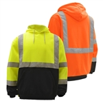 High Visibility Class 3 Fleece Hooded Pullover Sweatshirts