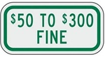 MISSOURI STATE SPECIFIED HANDICAPPED PARKING SIGN - 12 X 6 - Type I Reflective on .80 Aluminum, Top and Bottom mounting holes