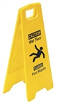 Caution Wet Floor - Bilingual - Heavy Duty Two Sided Flood Stand Sign