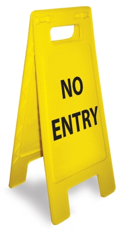 No Entry - Heavy Duty Two Sided Flood Stand Sign