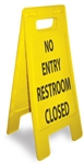 No Entry Restroom Closed - Heavy Duty Two Sided Flood Stand Sign