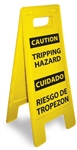 Caution Tripping Hazard - Bilingual - Heavy Duty Two Sided Flood Stand Sign