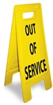 Out of Service - Heavy Duty Two Sided Flood Stand Sign