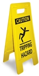 Caution Tripping Hazard - Heavy Duty Two Sided Flood Stand Sign