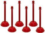 Red Portable Plastic Stanchions - Sold 6 per case