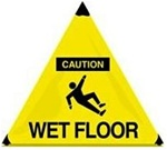 Caution Wet Floor - Handy Cone™ Floor Sign