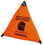 "18"" Warning People Working Handy Cone™ Floor Sign"