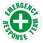 Emergency Response Team - Hard Hat Labels are constructed from Durable, Pressure Sensitive Vinyl or Engineer Grade Reflective for maximum day or nighttime visibility.