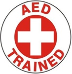 AED Trained - Hard Hat Labels are constructed from Durable, Pressure Sensitive Vinyl or Engineer Grade Reflective for maximum day or nighttime visibility.
