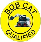 Bob Cat Qualified - Hard Hat Labels are constructed from Durable, Pressure Sensitive Vinyl or Engineer Grade Reflective for maximum day or nighttime visibility.