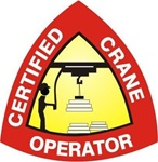 Certified Crane Operator - Hard Hat Labels are constructed from Durable, Pressure Sensitive Vinyl or Engineer Grade Reflective for maximum day or nighttime visibility.