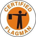 Certified Flagman - Hard Hat Labels are constructed from Durable, Pressure Sensitive Vinyl or Engineer Grade Reflective for maximum day or nighttime visibility.