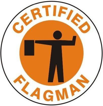 Certified Flagman Hard Hat Labels