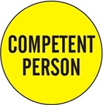 Competent Person - Hard Hat Labels are constructed from Durable, Pressure Sensitive Vinyl or Engineer Grade Reflective for maximum day or nighttime visibility.