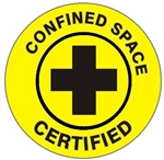 Confined Space Certified - Hard Hat Labels are constructed from Durable, Pressure Sensitive Vinyl or Engineer Grade Reflective for maximum day or nighttime visibility.