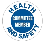 Health and Safety Committee Member - Hard Hat Labels are constructed from Durable, Pressure Sensitive Vinyl or Engineer Grade Reflective for maximum day or nighttime visibility.