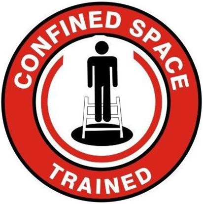 Confined Space Trained Hard Hat Decals