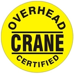 Overhead Crane Certified - Hard Hat Labels are constructed from Durable, Pressure Sensitive Vinyl or Engineer Grade Reflective for maximum day or nighttime visibility.