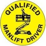 Qualified Manlift Driver - Hard Hat Labels are constructed from Durable, Pressure Sensitive Vinyl or Engineer Grade Reflective for maximum day or nighttime visibility.