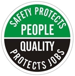 Safety Protects People Quality Protects Jobs - Hard Hat Labels are constructed from Durable, Pressure Sensitive Vinyl or Engineer Grade Reflective for maximum day or nighttime visibility.