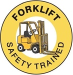 Forklift Safety Trained - Hard Hat Labels are constructed from Durable, Pressure Sensitive Vinyl or Engineer Grade Reflective for maximum day or nighttime visibility.