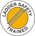 Ladder Safety Trained - Hard Hat Labels are constructed from Durable, Pressure Sensitive Vinyl or Engineer Grade Reflective for maximum day or nighttime visibility.