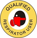 Qualified Respirator User - Hard Hat Labels are constructed from Durable, Pressure Sensitive Vinyl or Engineer Grade Reflective for maximum day or nighttime visibility.