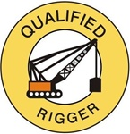 Qualified Rigger - Hard Hat Labels are constructed from Durable, Pressure Sensitive Vinyl or Engineer Grade Reflective for maximum day or nighttime visibility.