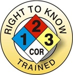 NFPA Right To Know Trained- Hard Hat Labels are constructed from Durable, Pressure Sensitive Vinyl or Engineer Grade Reflective for maximum day or nighttime visibility.