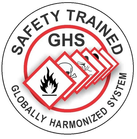 Hard Hat Decals Ghs Safety Trained