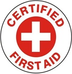 Certified First Aid - Hard Hat Labels are constructed from Durable, Pressure Sensitive Vinyl or Engineer Grade Reflective for maximum day or nighttime visibility.
