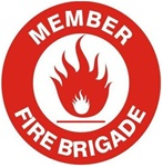 Fire Brigade Member - Hard Hat Labels are constructed from Durable, Pressure Sensitive Vinyl or Engineer Grade Reflective for maximum day or nighttime visibility.
