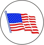 United States Flag - Hard Hat Labels are constructed from Durable, Pressure Sensitive Vinyl or Engineer Grade Reflective for maximum day or nighttime visibility.