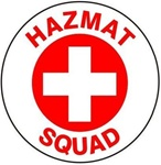 Hazmat Squad - Hard Hat Labels are constructed from Durable, Pressure Sensitive Vinyl or Engineer Grade Reflective for maximum day or nighttime visibility.
