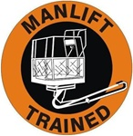 Manlift Trained - Hard Hat Labels are constructed from Durable, Pressure Sensitive Vinyl or Engineer Grade Reflective for maximum day or nighttime visibility.