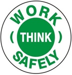 Work Think Safely - Hard Hat Labels are constructed from Durable, Pressure Sensitive Vinyl or Engineer Grade Reflective for maximum day or nighttime visibility.